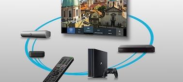 Imagen de dispositivos conectados controlados con Smart Remote