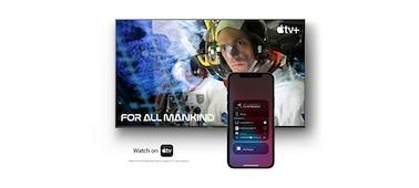 Imagen que muestra una pantalla de película con smartphone