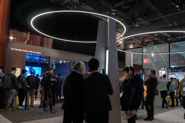 Imagen del estand de 360 Reality Audio de Sony en CES